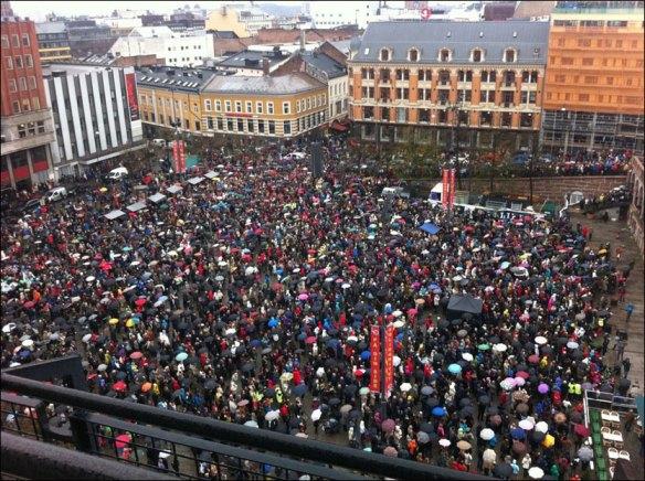 Fra Youngstorvet  Foto:Stian Valla Taraldsvik